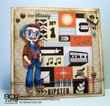 Hipster Kody Clear Stamp, SomeOddGirl - 3