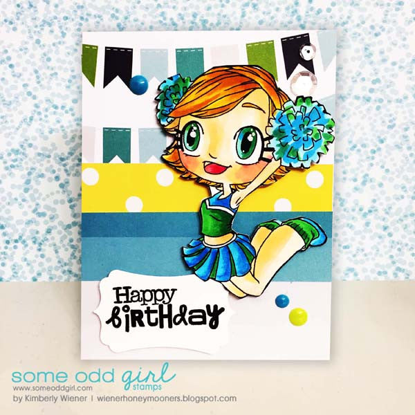 Cheerleader Kaylee Digi Stamp, SomeOddGirl - 4