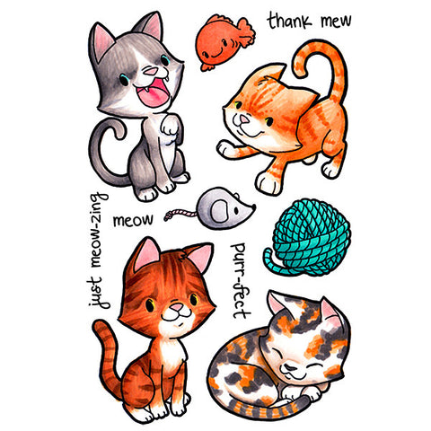 Clever Kittys Clear Stamp, SomeOddGirl - 1