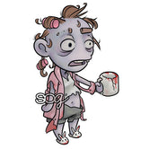 Mini Coffee Zombie Digi Stamp