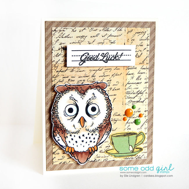Tired Owl Digi Stamp, SomeOddGirl - 2