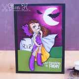 Vampiress Digi Stamp, SomeOddGirl - 3