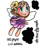 Fairy in Flight Clear Stamp, SomeOddGirl - 1