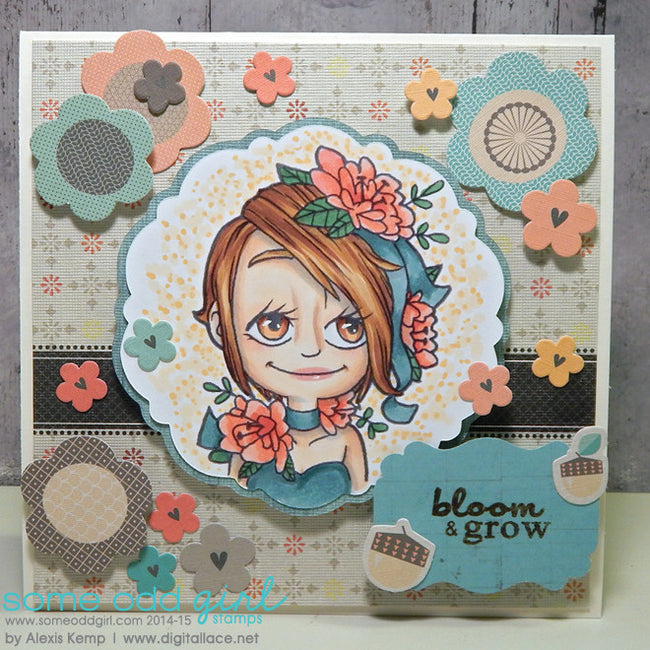 Flower Kaylee Digi Stamp, SomeOddGirl - 3