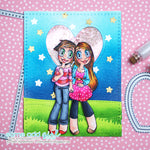 Girlfriends Kaylee & Mae Digi Stamp