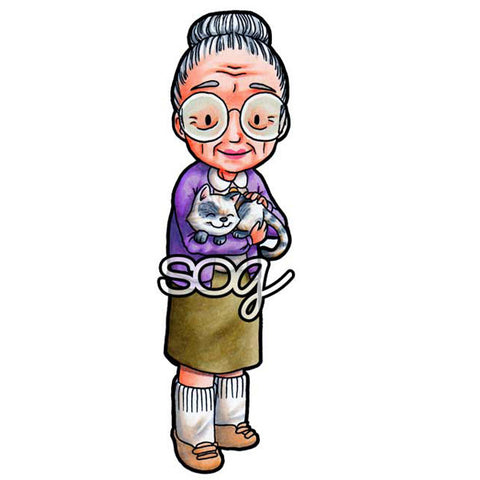 Grandma's Friend Digi Stamp, SomeOddGirl