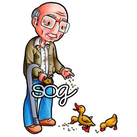 Grandpa Feeds the Ducks Digi Stamp, SomeOddGirl
