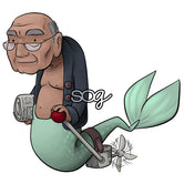 Grandpa Merman Digi Stamp