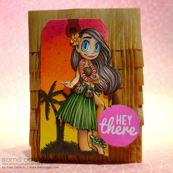 Hula Girl Mae Digi Stamp, SomeOddGirl - 2