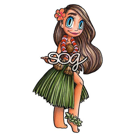 Hula Girl Mae Digi Stamp, SomeOddGirl - 1