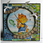 Fishing Cat Digi Stamp