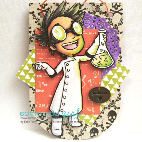 Mad Scientist Tobie Digi Stamp, SomeOddGirl - 3