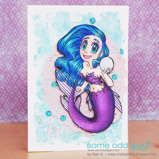 Pearl Mermaid Digi Stamp, SomeOddGirl - 2