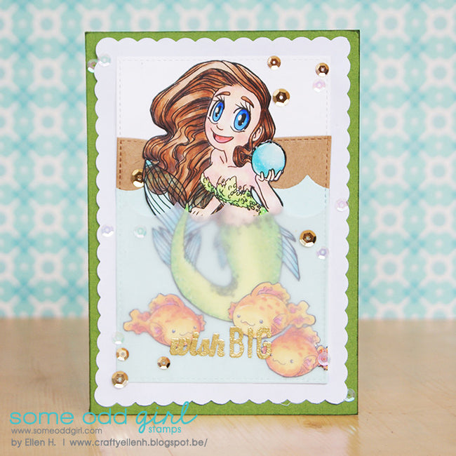 Pearl Mermaid Digi Stamp, SomeOddGirl - 3
