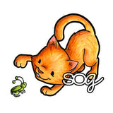 Kitty Hopper Digi Stamp, SomeOddGirl - 1