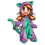 Kitty PJs Tia Digi Stamp, SomeOddGirl - 1