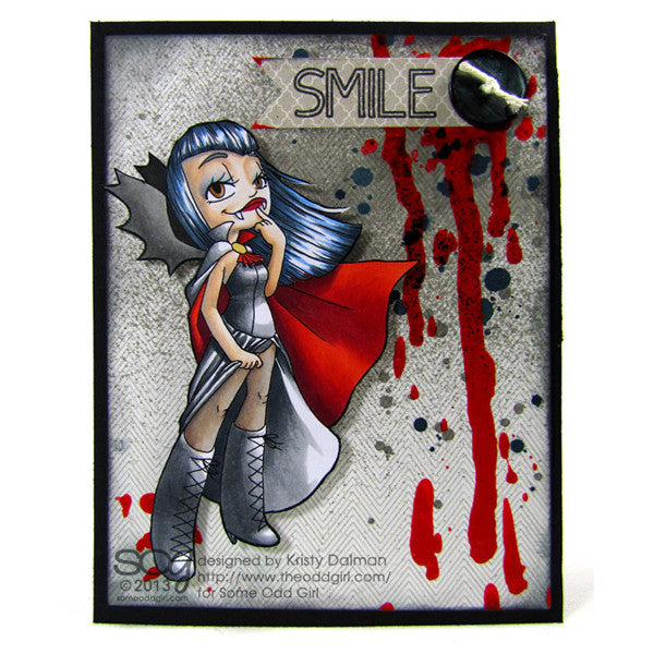 Vampiress Digi Stamp, SomeOddGirl - 2