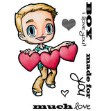 Lovey Tobie Clear Stamp, SomeOddGirl - 1