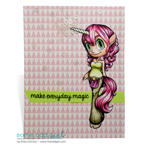 Unicorn Mae Digi Stamp, SomeOddGirl - 2