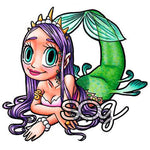 Mermaid Queen Digi Stamp