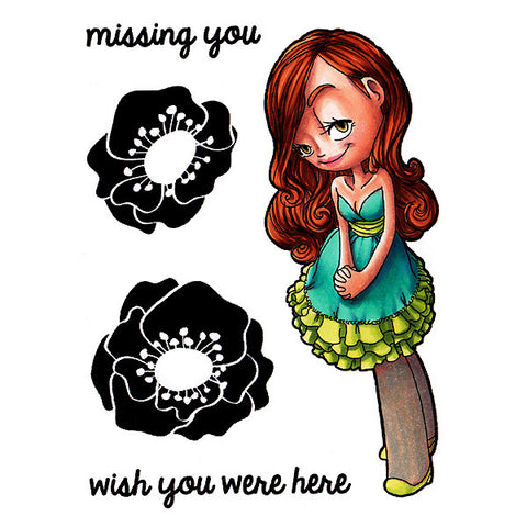 Miss You Mae Clear Stamp, SomeOddGirl - 1