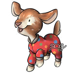 Pajama Goat Digital Stamp