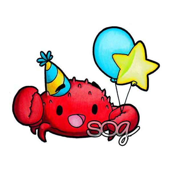 Party Crab Digi Stamp, SomeOddGirl - 1