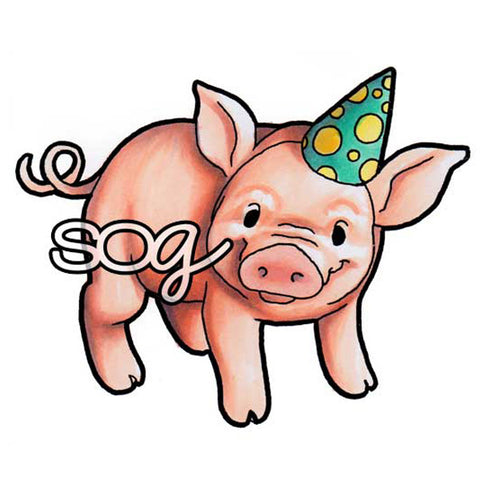Party Pig Digi Stamp, SomeOddGirl - 1