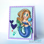Pearl Mermaid Digi Stamp, SomeOddGirl - 9