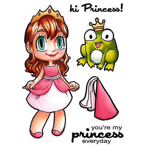 *Sample* Princess Tia Clear Stamp, SomeOddGirl