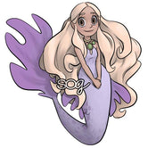Proper Mermaid Digi Stamp