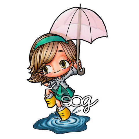 Puddle Hopping Tia Digi Stamp, SomeOddGirl - 1