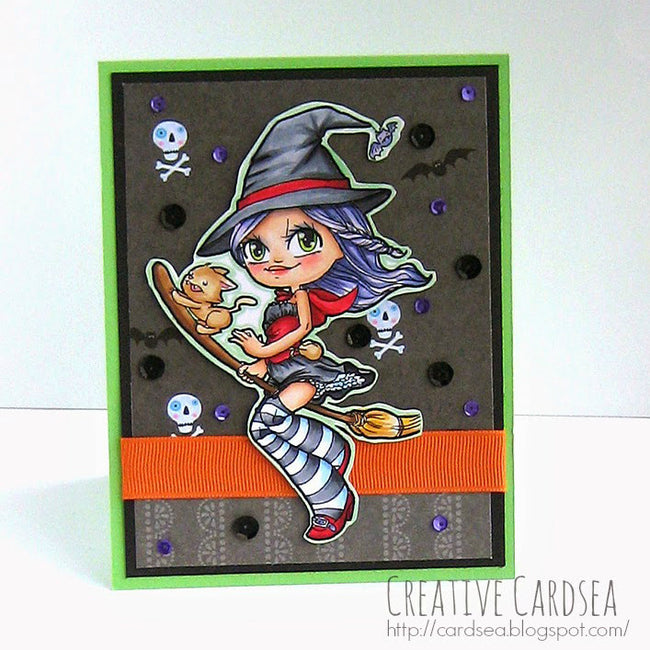 Witchy Mae Digi Stamp, SomeOddGirl - 2