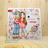 Girlfriends Kaylee & Mae Digi Stamp, SomeOddGirl - 6