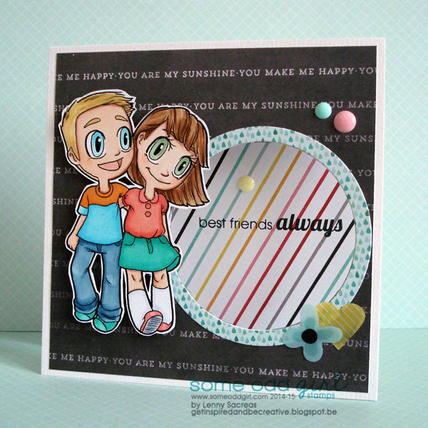 Best Friends Tobie & Tia Digi Stamp, SomeOddGirl - 3