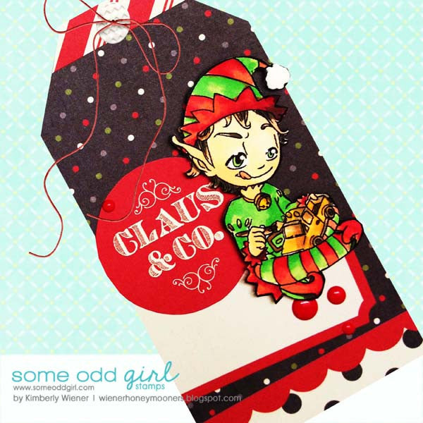 Santa's Helper Tobie Digi Stamp, SomeOddGirl - 3