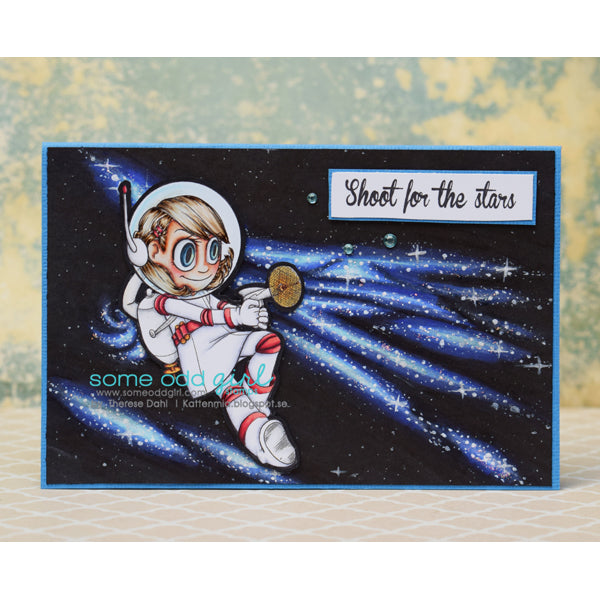 Space Cadet Tia Digi Stamp