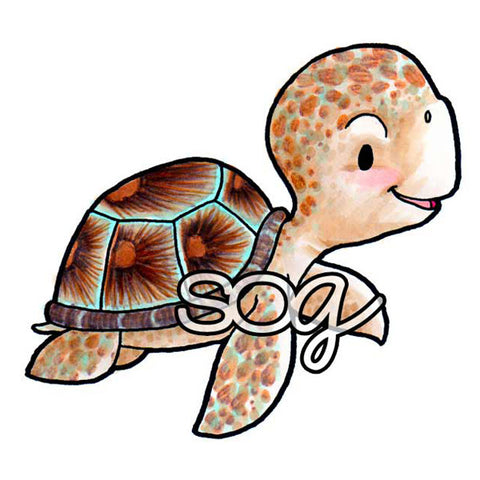 Sea Turtle Digi Stamp, SomeOddGirl - 1