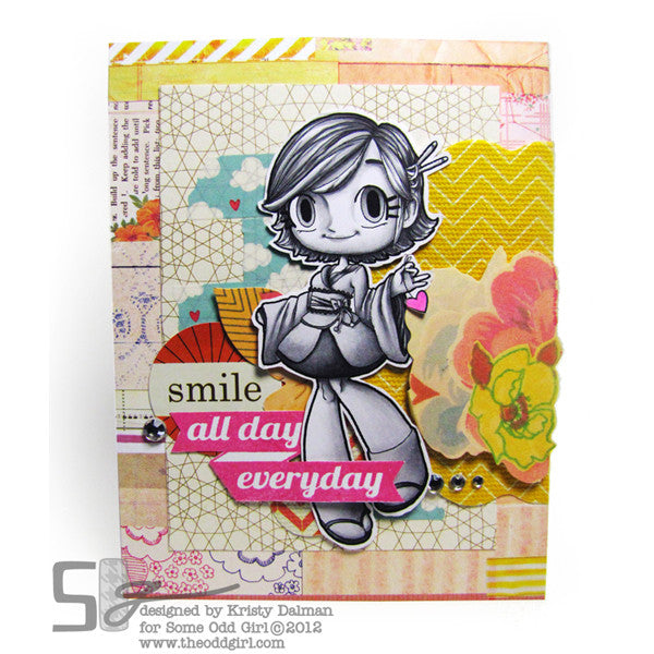 Everyday Smiles Clear Stamp, SomeOddGirl - 3