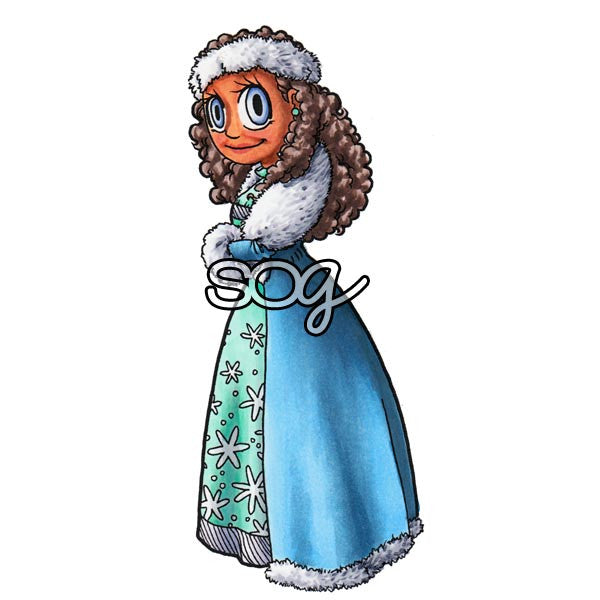 Snow Queen Piper Digi Stamp, SomeOddGirl - 1
