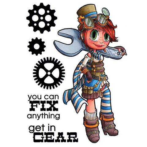 Steampunk Kaylee Clear Stamp, SomeOddGirl - 1