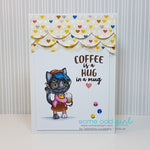 Coffee Cat Digi Stamp