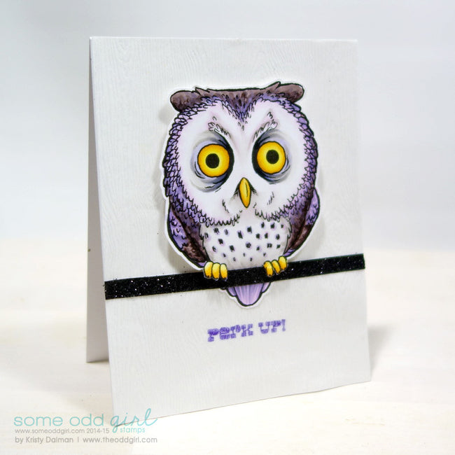 Tired Owl Digi Stamp, SomeOddGirl - 6