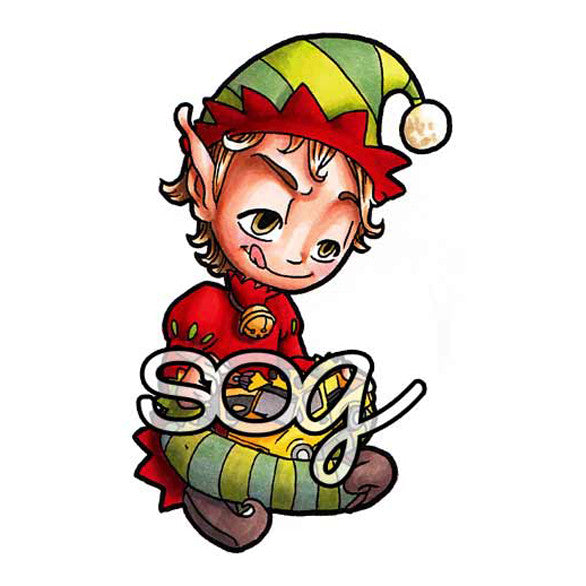 Santa's Helper Tobie Digi Stamp, SomeOddGirl - 1