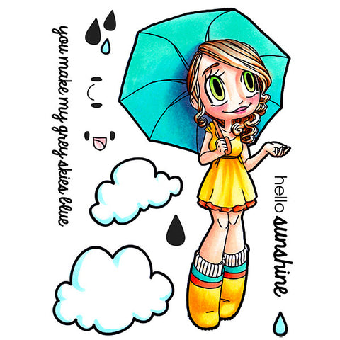 Umbrella Gwen Clear Stamp, SomeOddGirl - 1