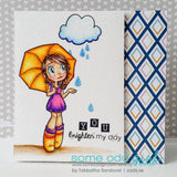 Umbrella Gwen Clear Stamp, SomeOddGirl - 4