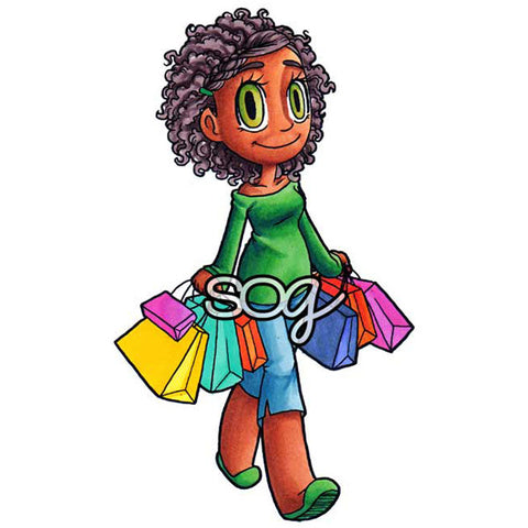 Shopping Piper Digi Stamp, SomeOddGirl - 1