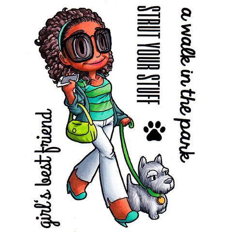 Walk the Dog Piper Clear Stamp, SomeOddGirl - 1