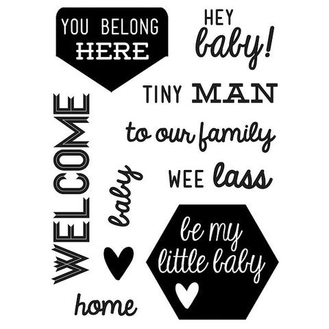 Welcome Baby Clear Stamp, SomeOddGirl