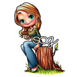Woodsy Mae Digi Stamp, SomeOddGirl - 1